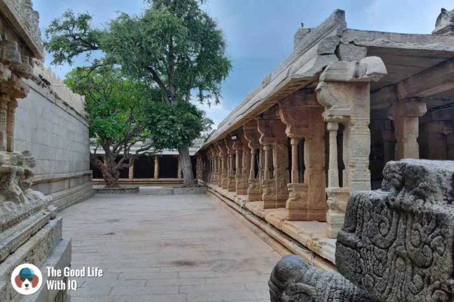 Temple courtyard - Day trip to Lepakshi