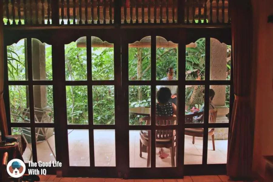 French windows, Bali Asli Lodge - Three days in Ubud, Bali