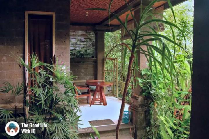 Verandah, Bali Asli Lodge, Ubud, Bali