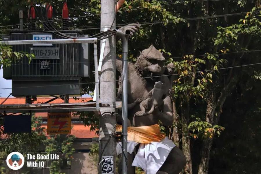 Monkey statue, Ubud, Bali