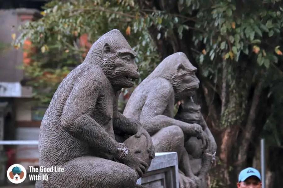 Monkey statues - Three days in ubud, Bali