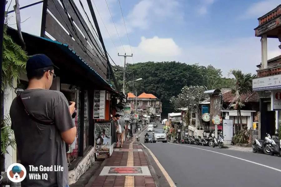 Monkey forest road, Ubud, Bali