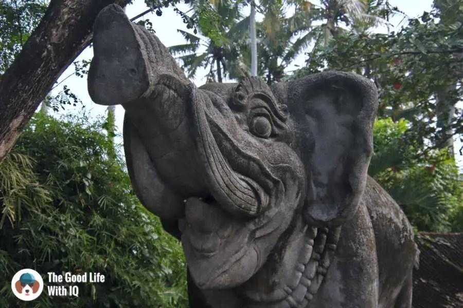 Elephant statue, Bali