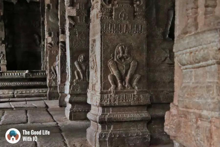 Granite pillars - Day trip to Lepakshi