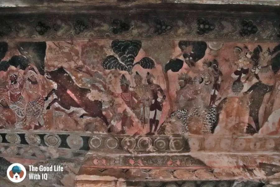 Ceiling murals - Lepakshi temple
