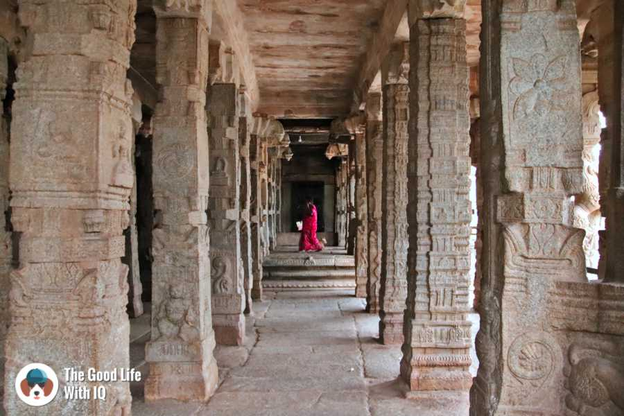 Lady in red - Day trip to Lepakshi