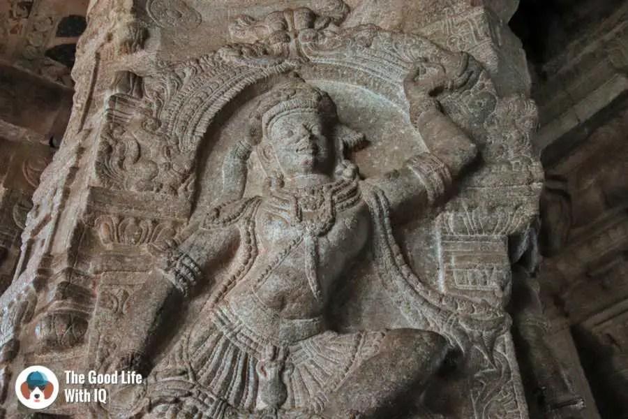Bhringi carving - Lepakshi temple