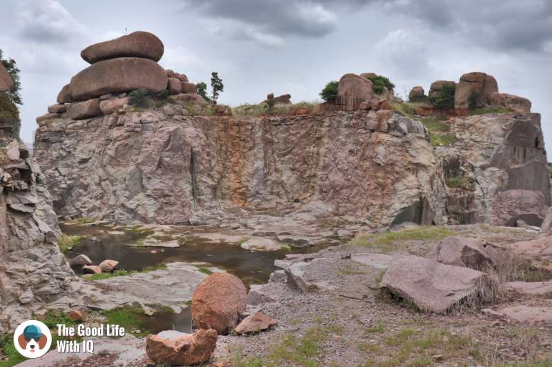 Granite rocks being destroyed, Hyderabad