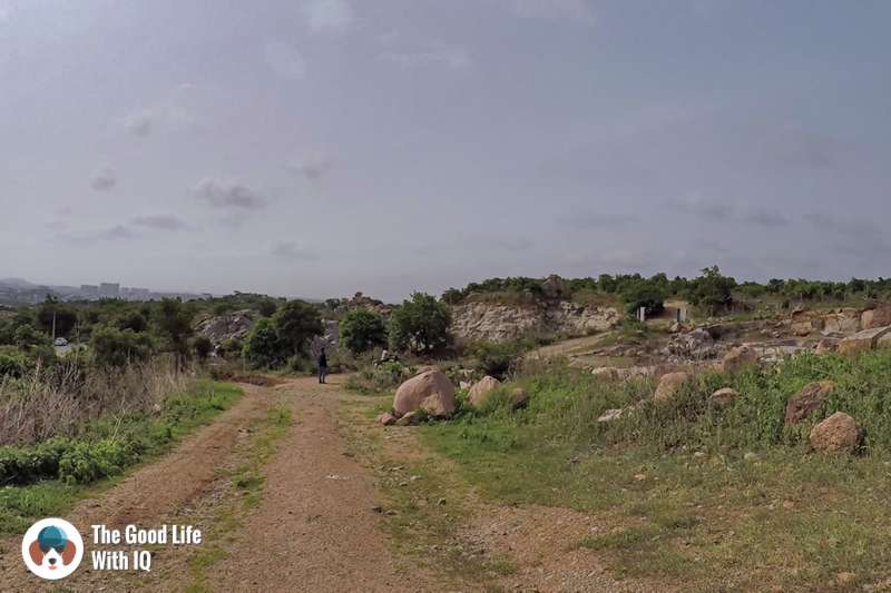 Unpaved path, Khanapur hill