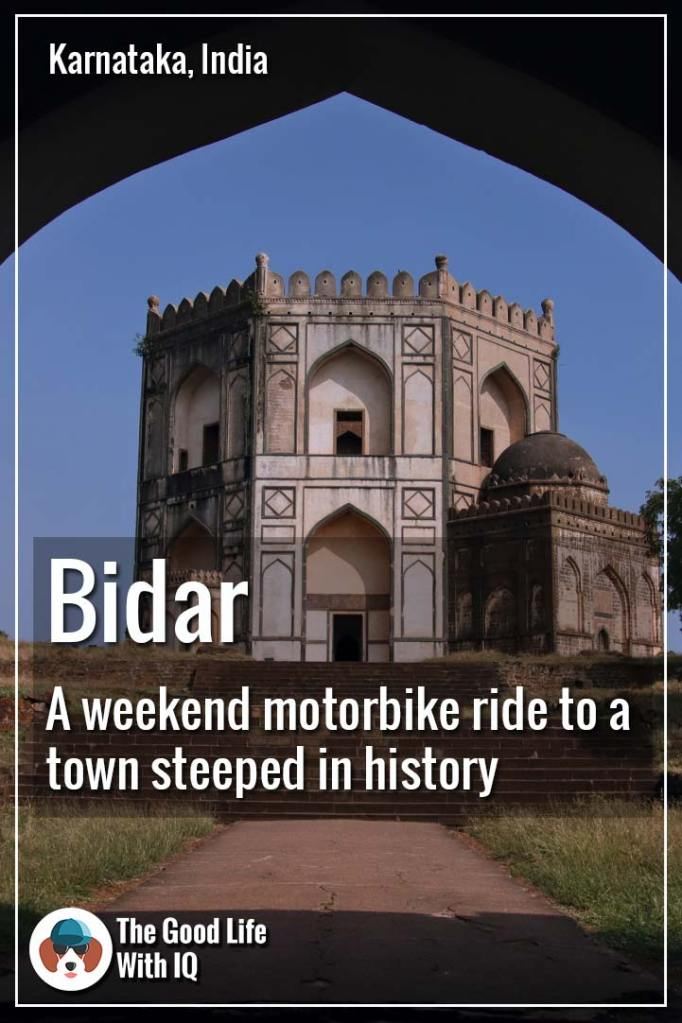 Pinterest thumbnail - weekend motorbike ride to bidar