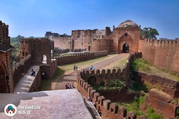 Road trips from Hyderabad - The impressive causeway of Bidar Fort