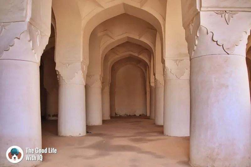 solah khamba mosque - bidar
