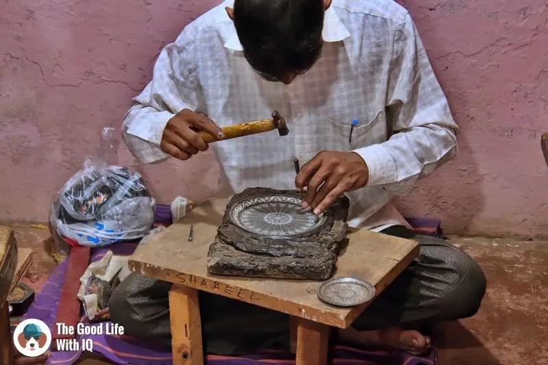 bidri artisan - Hyderabad to Bidar road trip