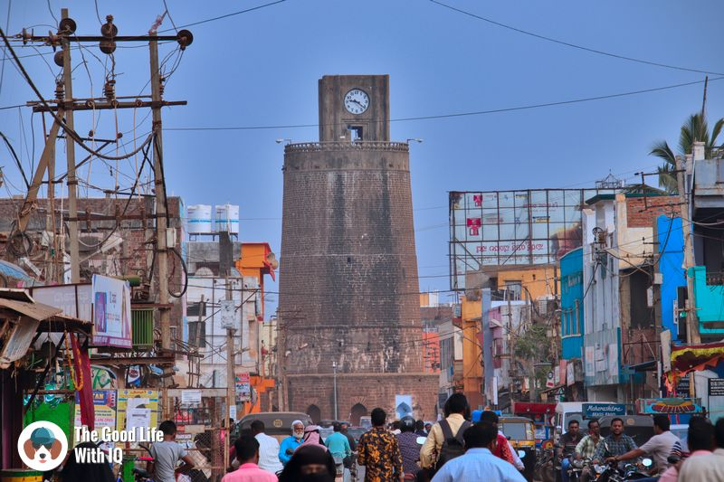 chaubara clock tower - bidar