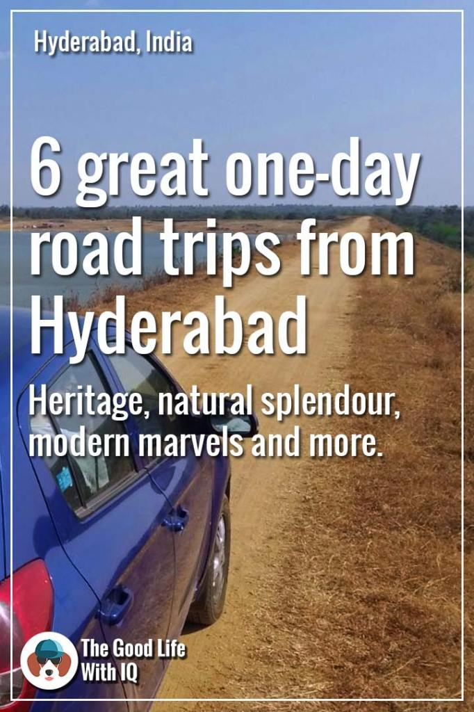 Great road trips from Hyderabad - Pinterest thumbnail