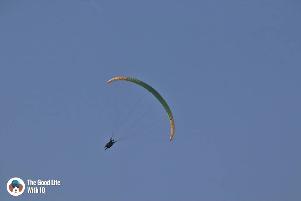 Close-up of paraglider