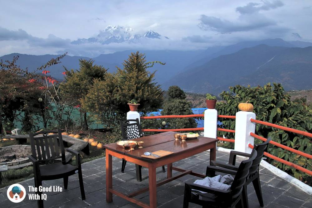 Meal with a view of the mountains - Things to do in Pokhara