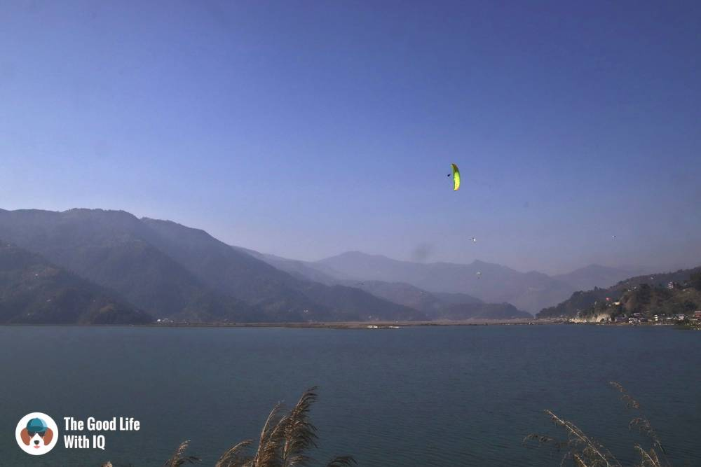Paragliders over Phewa Lake - Things to do in Pokhara, Nepal