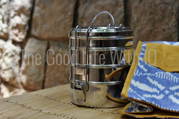 Stainless steel lunchbox and ikat bag