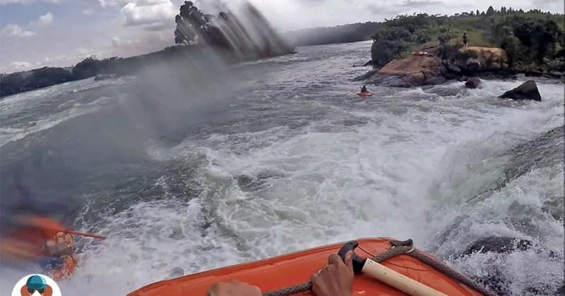 Steep rapids - White Nile river - Jinja, Uganda