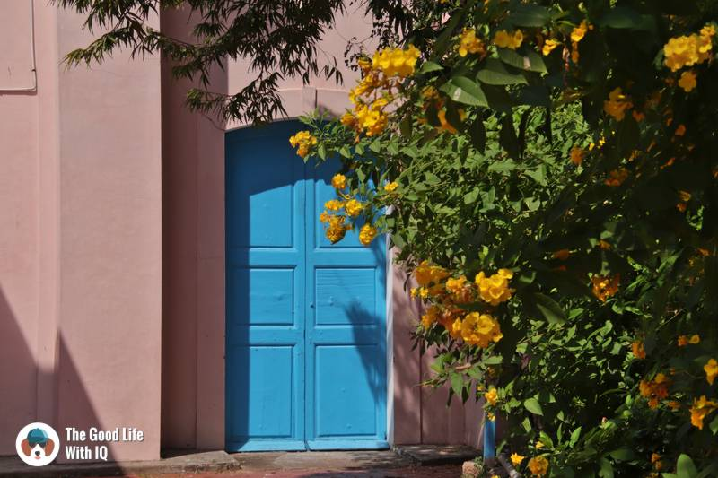Blue door, Immaculate Conception Cathedral
