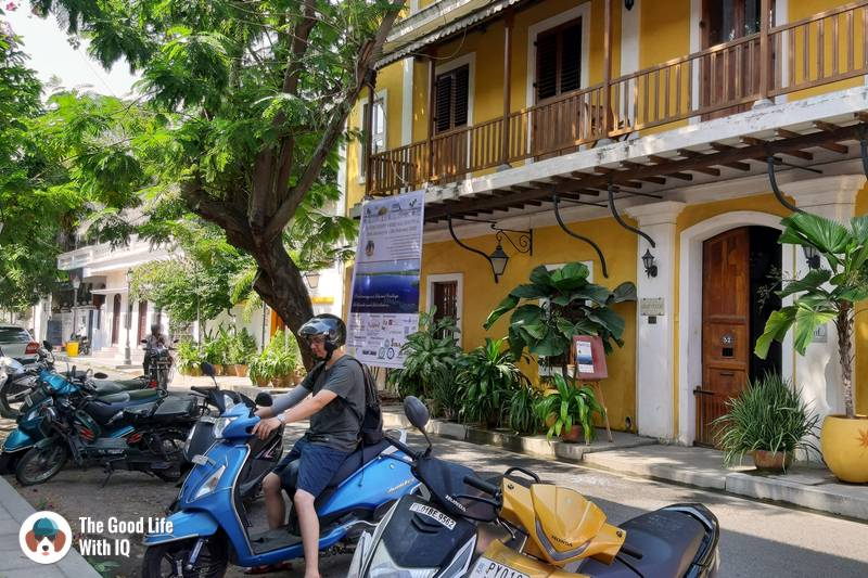 Exploring by scooter - 3 day trip to Pondicherry