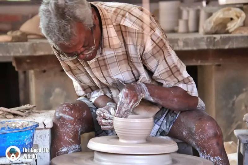 Potter at work - 3 day trip to Pondicherry