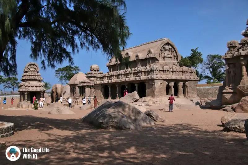 Pancha Ratha, Mahabalipuram - 3 day trip to Pondicherry