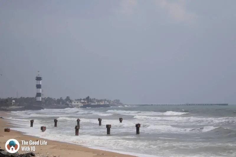 Lighthouse beach - 3 day trip to Pondicherry