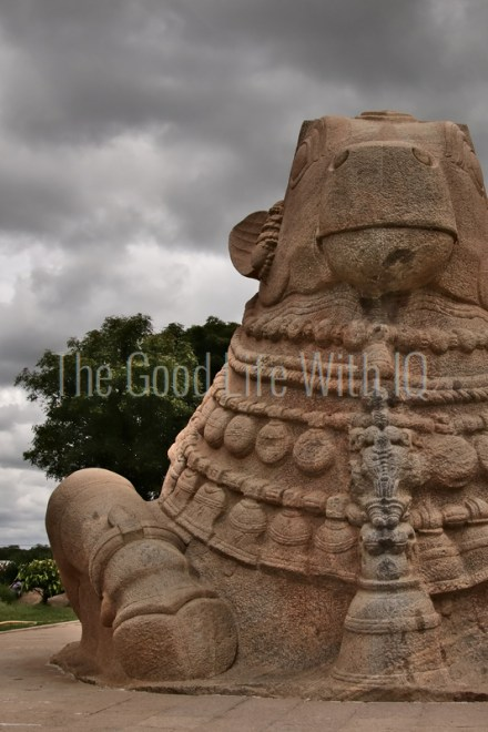 Image of carved stone Nandi statue in Lepakshi (preview)
