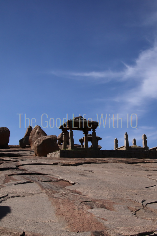 Vertical image of granite temple structures in Hampi (preview)