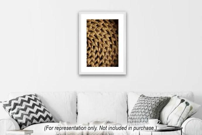 Cane spiral basket weave