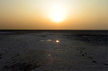 Reflected sunset - Great Rann of Kutch