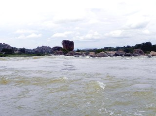 The fast-moving river at Tirumalapur