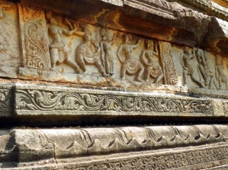 Court scenes carved along the staircase leading to the top of the royal audience platform