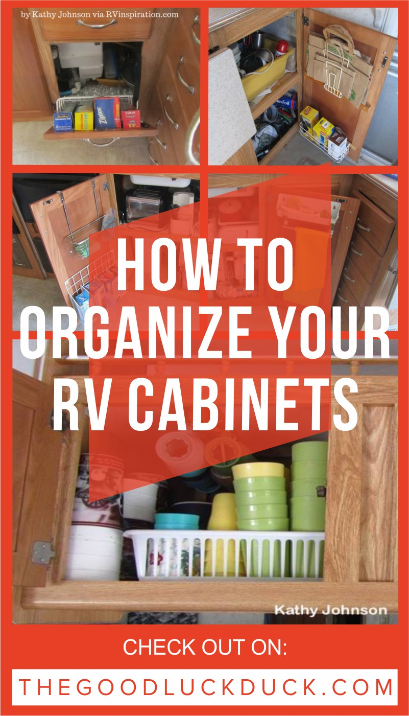 How to organize your rv cabinets