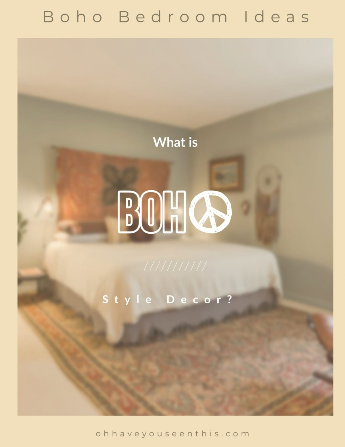 What is boho style decor