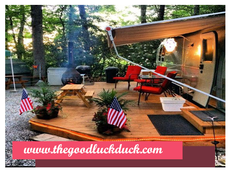 rv trailer deck ideas