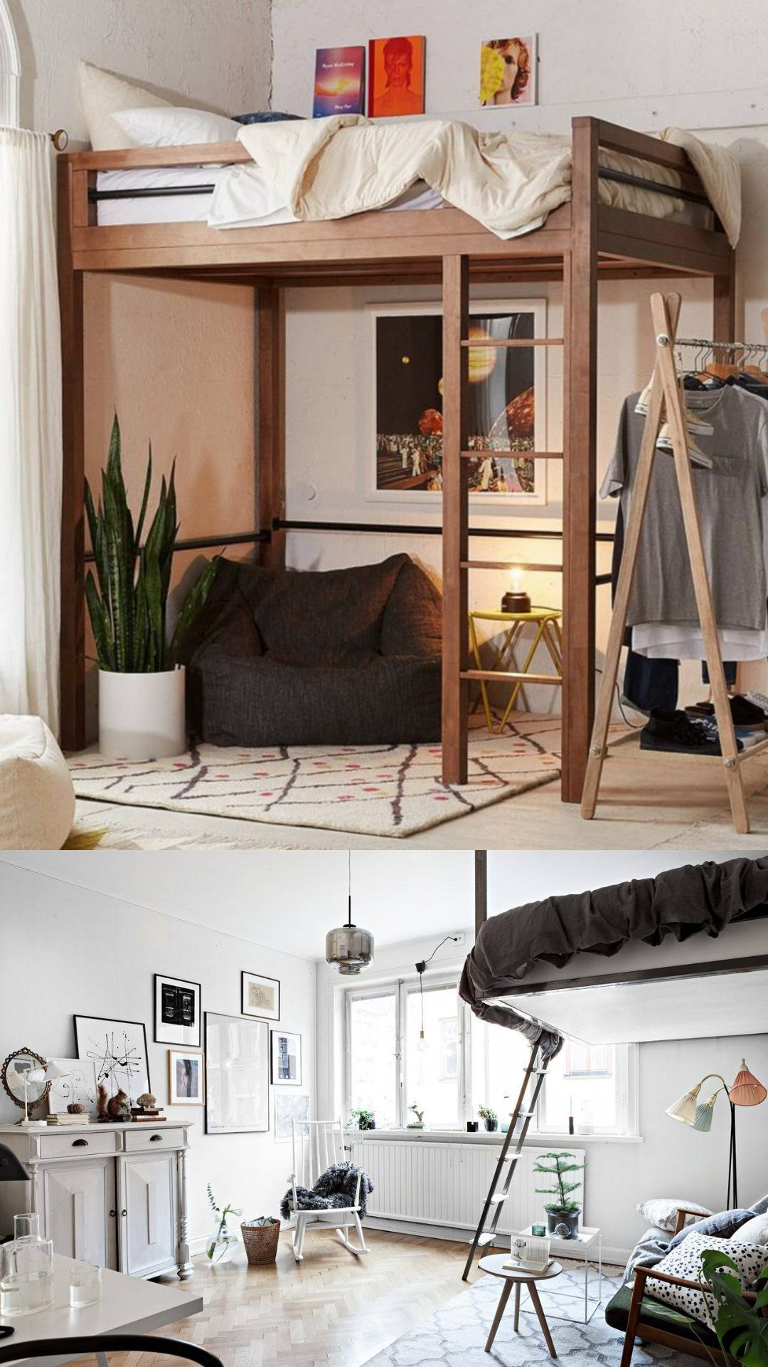 lofted bed for adult ideas
