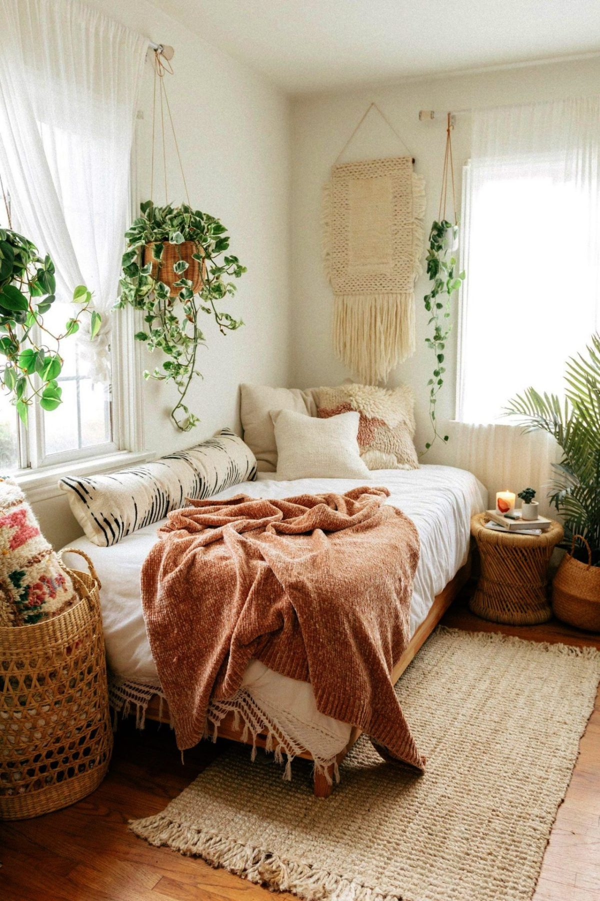 boho bedroom ideas (how to decor & best color for bohemian