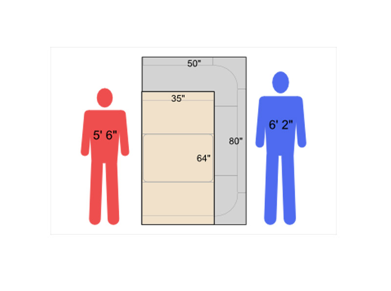 rv dining table bed sizes