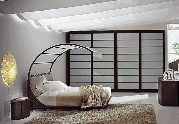 Modern Enignum-style Canopy Bed