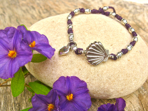 Camino Scallop shell heart