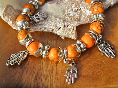 Hamsa hand symbol jewellery