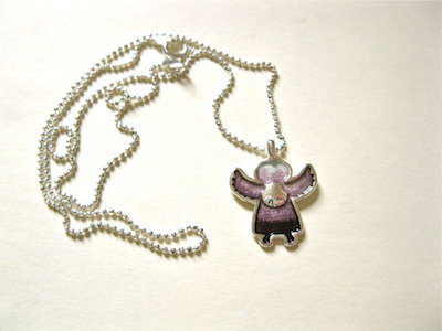 Lucky charm angel necklace