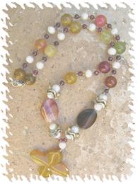 Lucky gemstone necklace