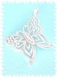 Pendant butterfly symbol