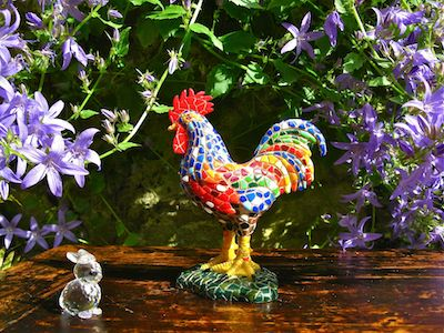 Rooster cockerel lucky figurine