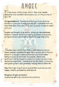 Angel charm for travel protection