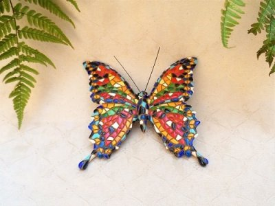 Butterfly ceramic charm